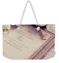 White Lace And Promises Weekender Tote Bag by Rachel Mirror