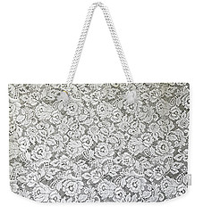 Weekender Tote Bag featuring the photograph White Lace by Nareeta Martin