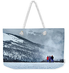White Landscape In The Frozen Paradise Weekender Tote Bag