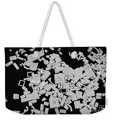 White Lego Abstract Weekender Tote Bag