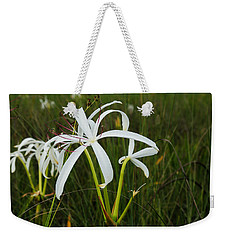 White Lilies In Bloom Weekender Tote Bag by Christopher L Thomley