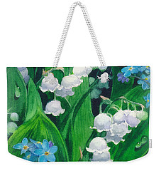 White Lilies Of The Valley Weekender Tote Bag by Sergey Lukashin