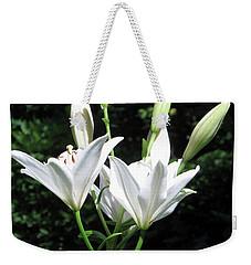 White Lilies, West Virginia Weekender Tote Bag by Sandy McIntire