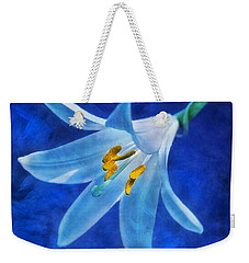 White Lilly Weekender Tote Bag by Ian Mitchell