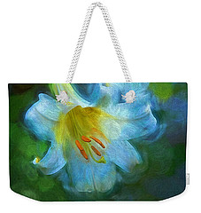 White Lily Obscure Weekender Tote Bag