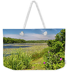 White Lily Pond  Weekender Tote Bag