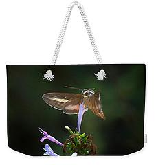 White -lined Sphinx Moth Pollenating A Flower Weekender Tote Bag
