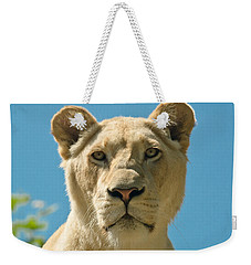 White Lion Weekender Tote Bag