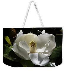 White Magnolia Flower Weekender Tote Bag