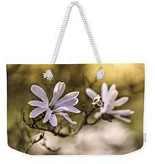 White Magnolia Weekender Tote Bag
