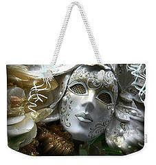 White Masked Celebration Weekender Tote Bag
