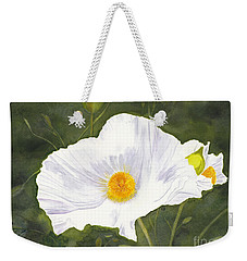 White Matilija Poppy  Weekender Tote Bag