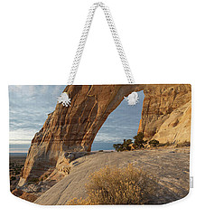 Weekender Tote Bag featuring the photograph White Mesa Arch by Dustin LeFevre
