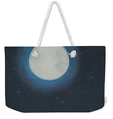 White Moon At Night Weekender Tote Bag