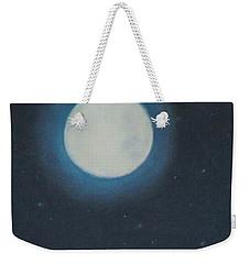 White Moon At Night Weekender Tote Bag