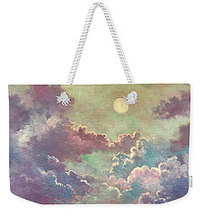 White Moon Rising Weekender Tote Bag