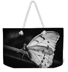 White Morpho Black And White Weekender Tote Bag
