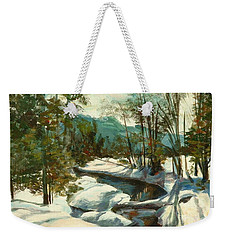 White Mountain Winter Creek Weekender Tote Bag