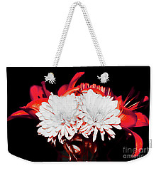 White Mums And Red Lilies Weekender Tote Bag