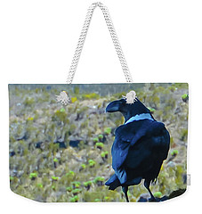 White-necked Raven Cliff-side Weekender Tote Bag by Jeff at JSJ Photography