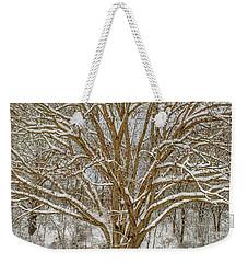 White Oak In Snow Weekender Tote Bag
