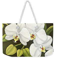 White Orchid Weekender Tote Bag by Inese Poga