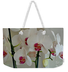 White Orchid Mothers Day Weekender Tote Bag by Marsha Heiken