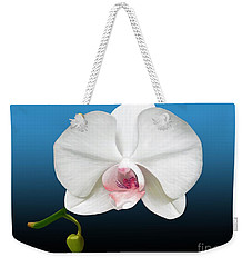 White Orchid Weekender Tote Bag by Rand Herron
