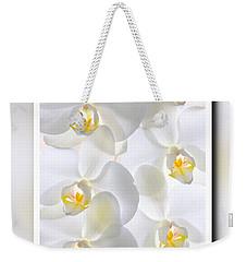 White Orchids Framed Weekender Tote Bag