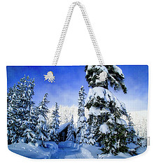 White Pass Chalet Weekender Tote Bag