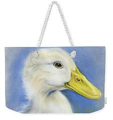 White Pekin Duck Weekender Tote Bag by MM Anderson
