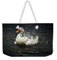 White Pekin Duck Weekender Tote Bag
