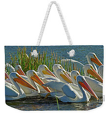 White Pelican Sun Party Weekender Tote Bag
