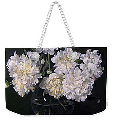 White Peonies Are Ready To Explode Weekender Tote Bag