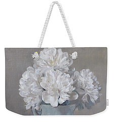 Gray Day For White Peonies Weekender Tote Bag