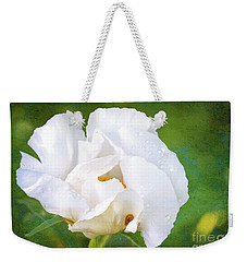 White Peony After The Rain Weekender Tote Bag