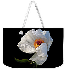 White Peony After The Rain Weekender Tote Bag by Gill Billington