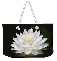 White Petals Glow - Water Lily Weekender Tote Bag