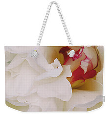 White Petals Weekender Tote Bag by Michael Peychich