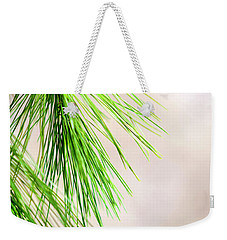 Weekender Tote Bag featuring the photograph White Pine Branch by Christina Rollo