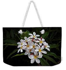 White Plumerias In Bloom Weekender Tote Bag