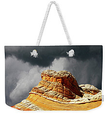 Weekender Tote Bag featuring the photograph White Pocket 35 by Bob Christopher