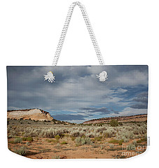 Weekender Tote Bag featuring the photograph White Pocket Meets Vermillion Cliffs by Anne Rodkin