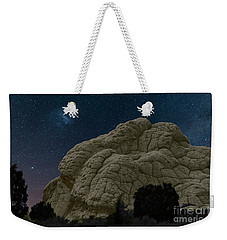 Weekender Tote Bag featuring the photograph White Pocket Night Sky by Anne Rodkin