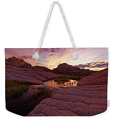 Weekender Tote Bag featuring the photograph White Pocket Sunset by Jonathan Davison