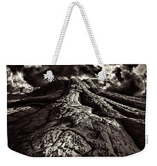 White Pockets In Black And White Weekender Tote Bag