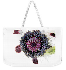 Weekender Tote Bag featuring the photograph White Poppy by Stephanie Moore
