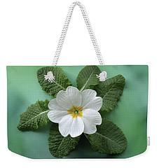 White Primrose Weekender Tote Bag