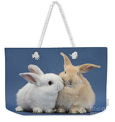 White Rabbit And Sandy Rabbit Weekender Tote Bag