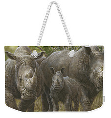 White Rhino Family - The Face That Only A Mother Could Love Weekender Tote Bag